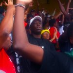 Kenyan fans at the rugby sevens