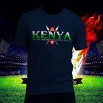 Fashion-Male-Female-Unisex-T-Shirt-Kenya-fan-after7s-Front-Navy-Blue-plain